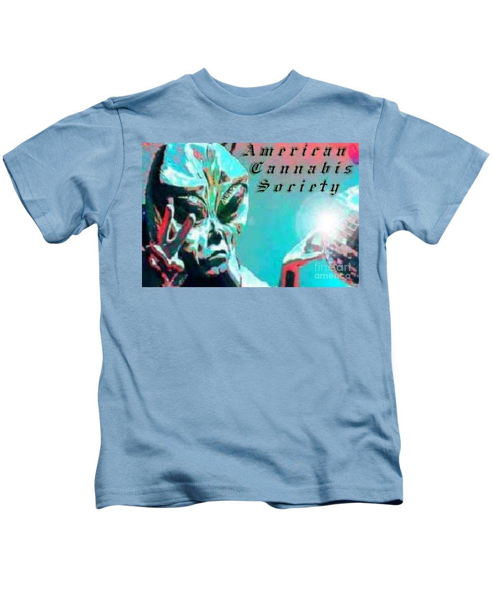 Alien Kids T-Shirt featuring the digital art Alien by Michelle S White
