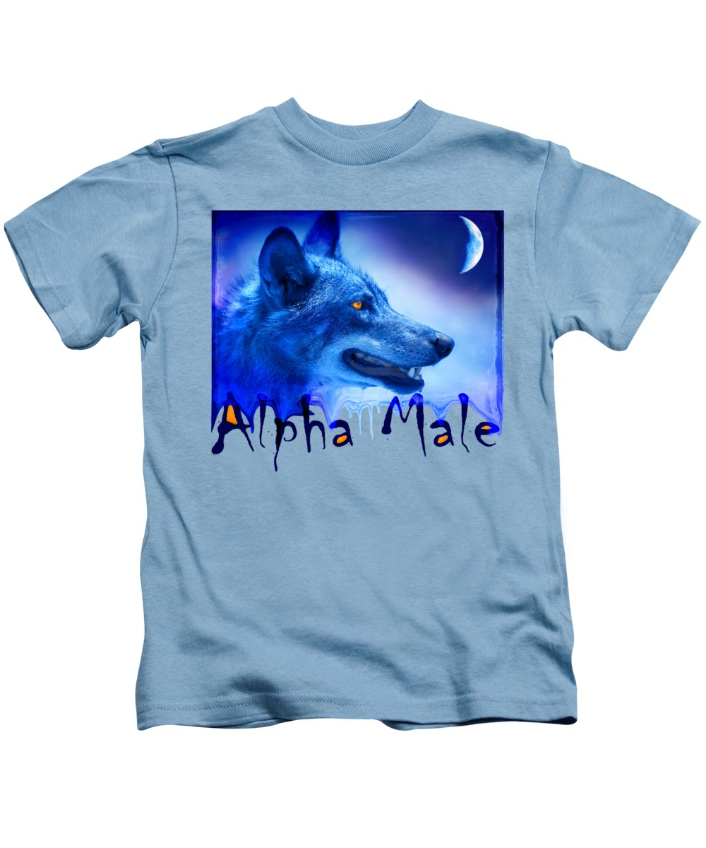 Wolf Kids T-Shirt featuring the photograph Alpha Male by Mal Bray