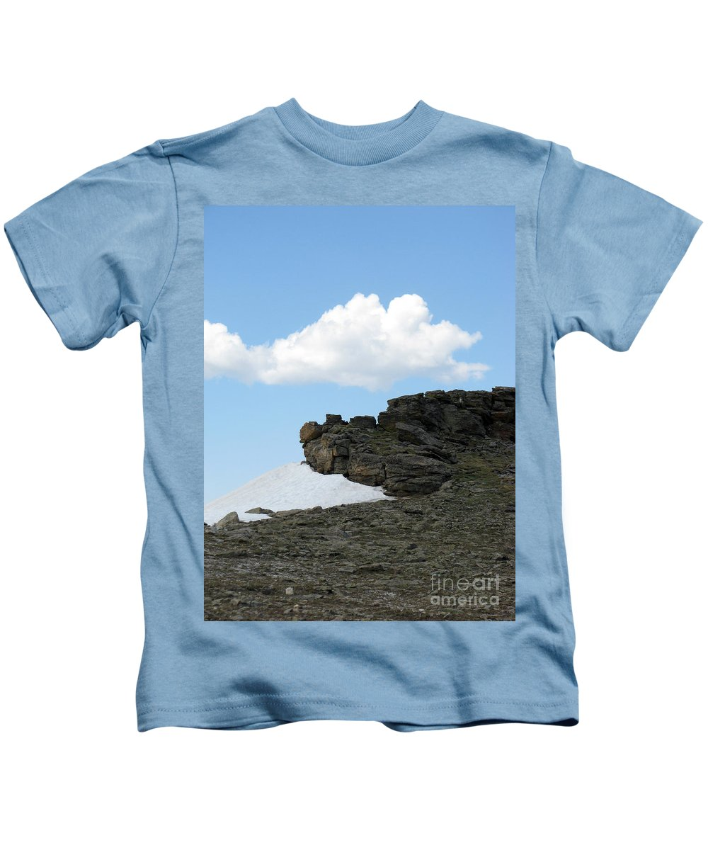 Rocky Mountains Kids T-Shirt featuring the photograph Alpine Tundra - Up in the clouds by Amanda Barcon