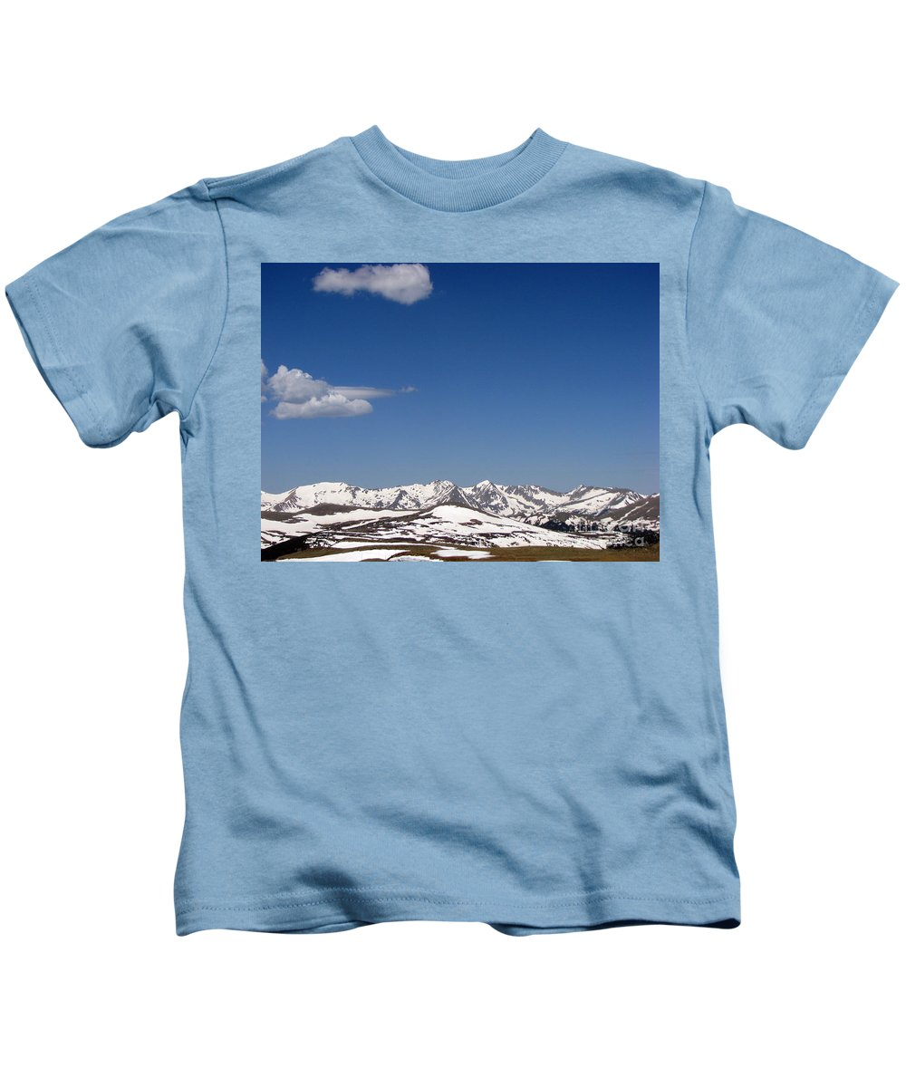 Mountains Kids T-Shirt featuring the photograph Alpine Tundra Series by Amanda Barcon