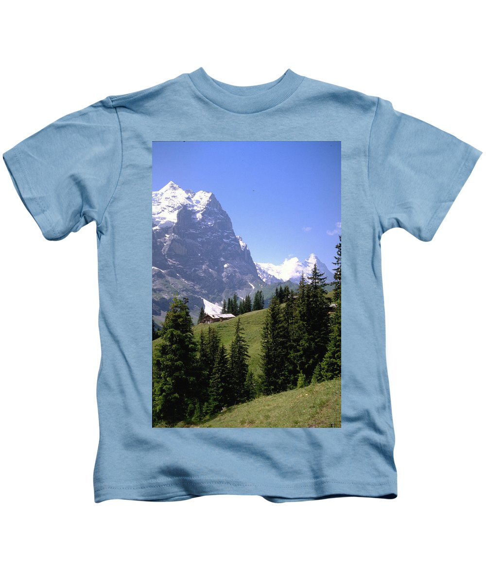 Alps Kids T-Shirt featuring the photograph Alps by Flavia Westerwelle