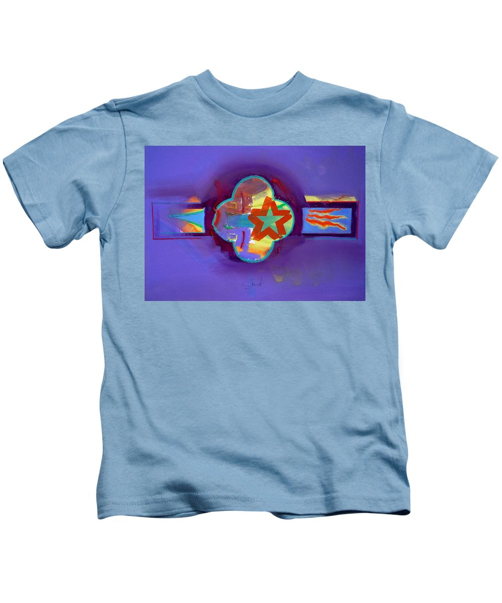 Star Kids T-Shirt featuring the painting American Neon by Charles Stuart