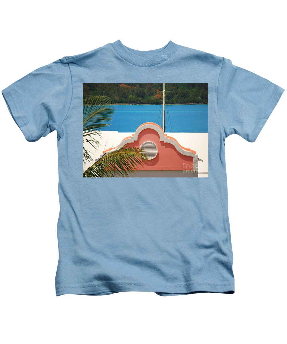Bermuda Photography Grotto Bay Photography Bermudian Architectural Icon Tropical Photography Landscape Photography Landmark Photography Tranquil Photography Metal Frame Suggested Canvas Print Suitable Greeting Card Kids T-Shirt featuring the photograph An Eye Brow Roof At Grotto Bay by Marcus Dagan