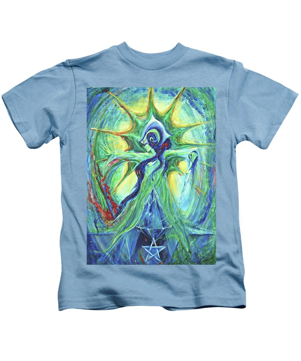 Goddess Kids T-Shirt featuring the painting Ancient History by Jennifer Christenson