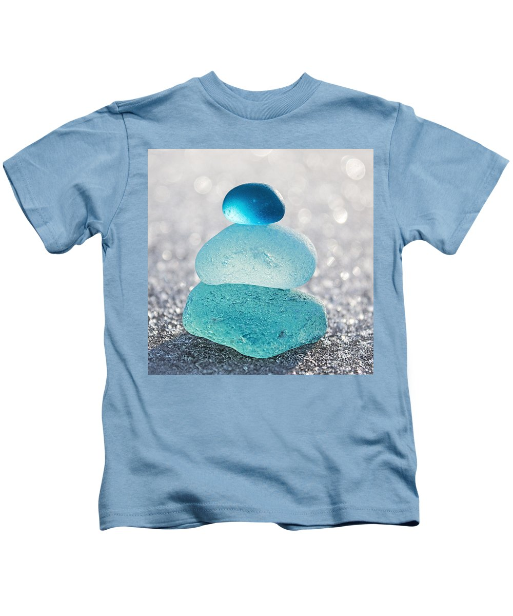 Sea Kids T-Shirt featuring the photograph Aquamarine Ice by Barbara McMahon