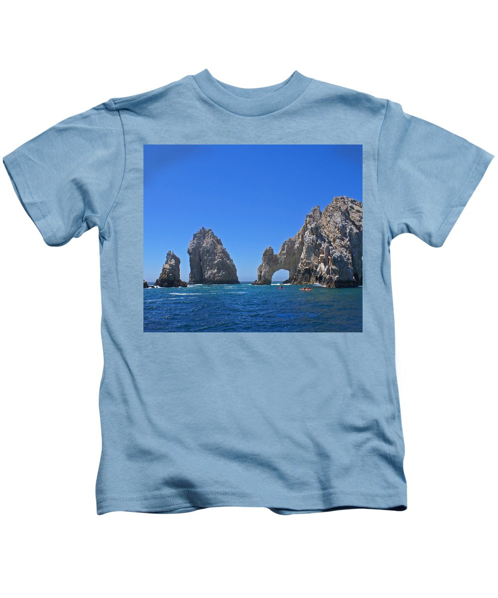 Mexico Kids T-Shirt featuring the photograph Arch At Cabo San Lucas by Heather Coen