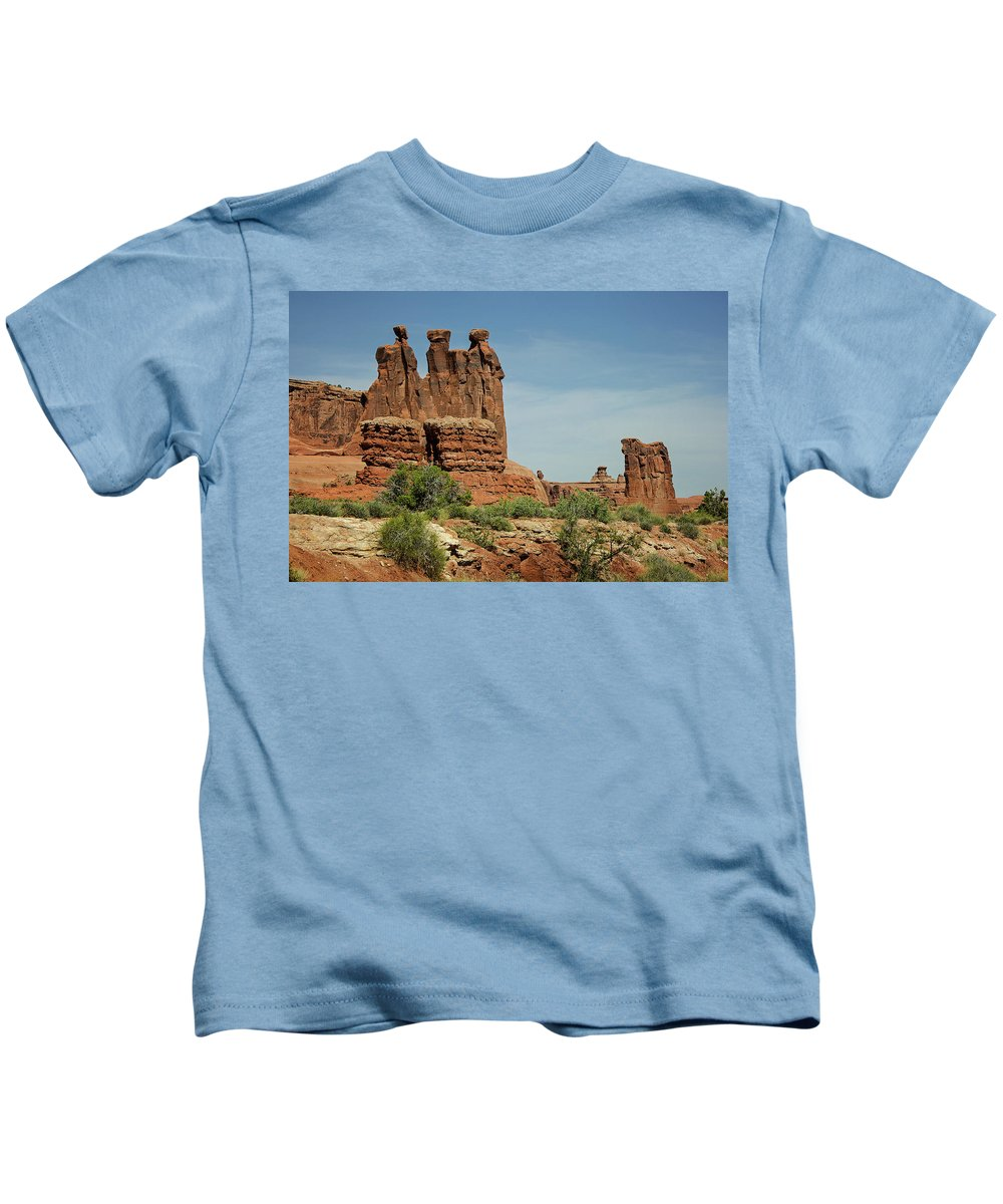 Arches National Park 3 Kids T-Shirt featuring the photograph Arches National Park 3 by Susan McMenamin