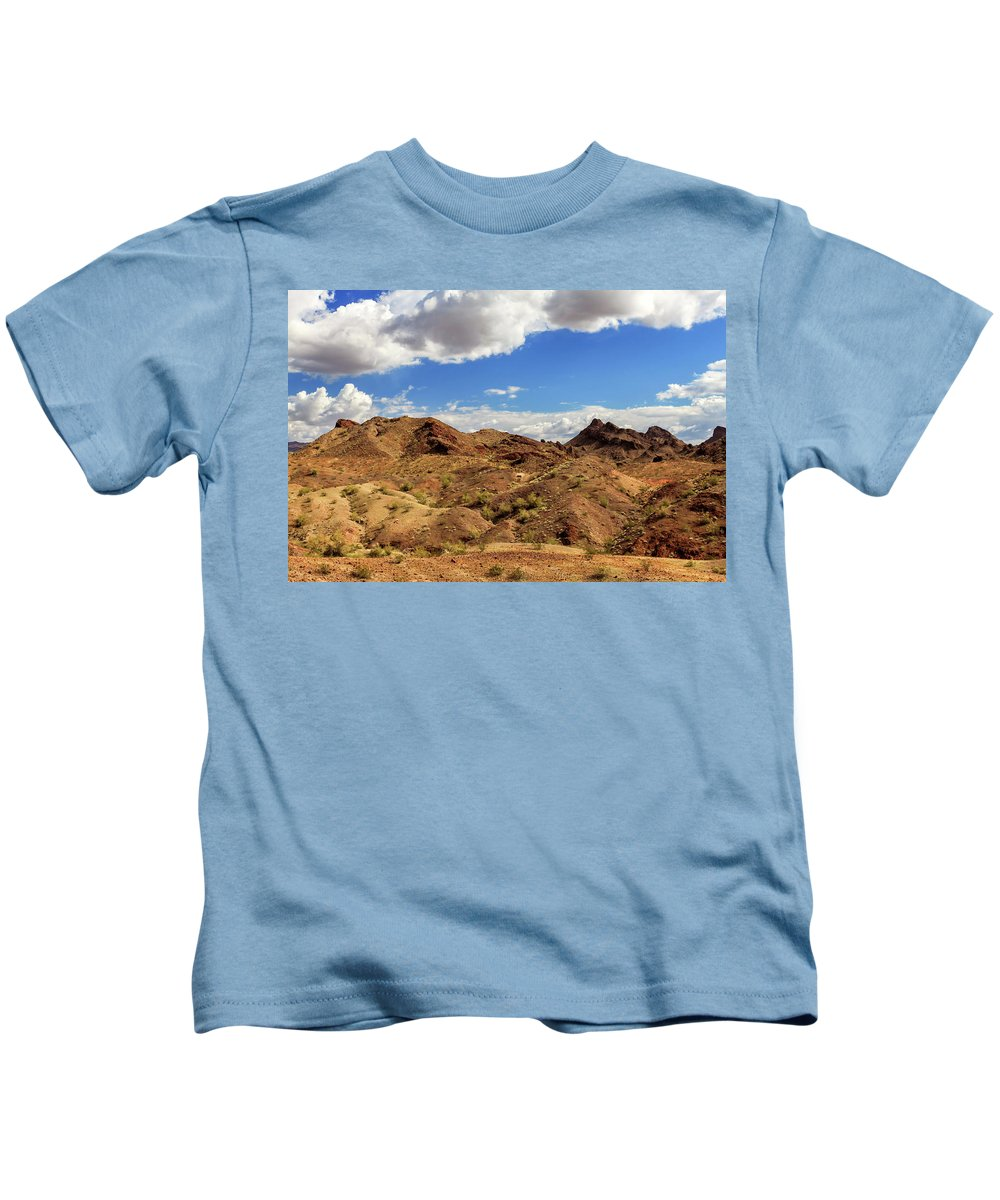 Landscape Kids T-Shirt featuring the photograph Arizona Hills by James Eddy