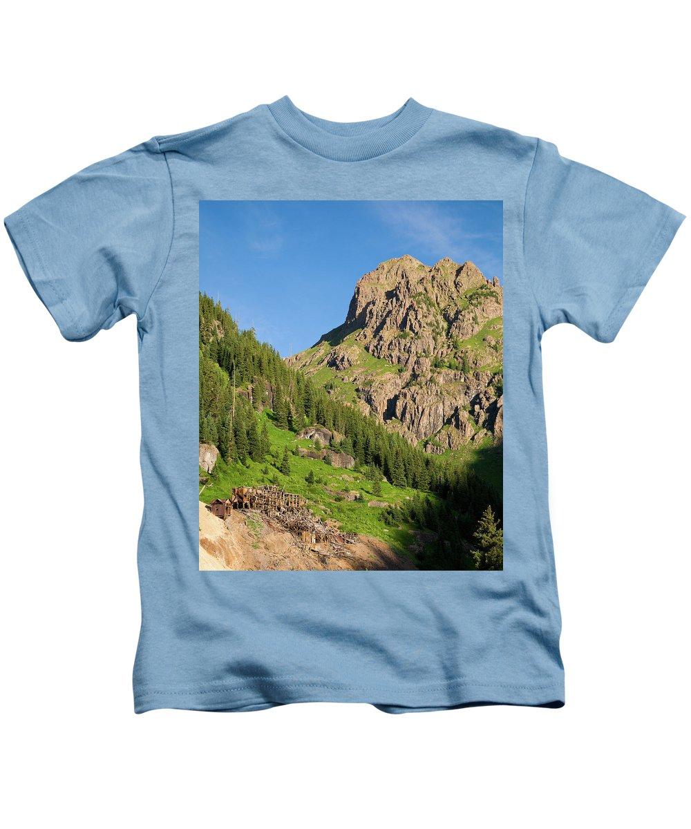 Colorado Kids T-Shirt featuring the photograph Atlas Mine by Steve Stuller