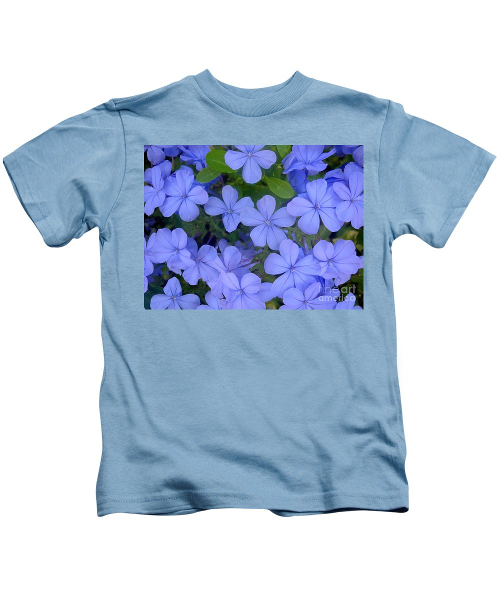 Nature Kids T-Shirt featuring the photograph Autumn Blues by Lucyna A M Green