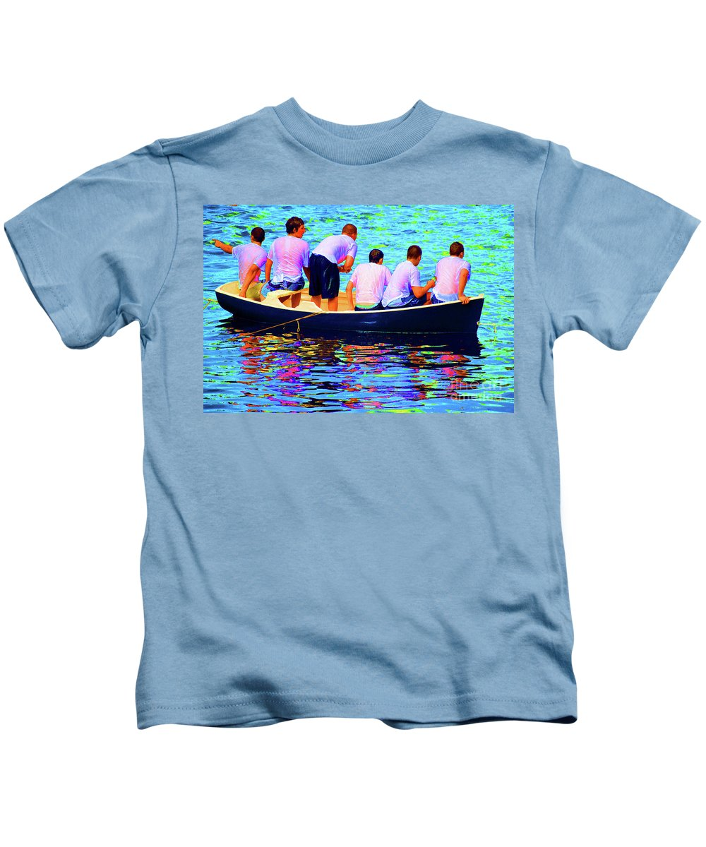 Greek Kids T-Shirt featuring the photograph Awaiting The Throw by Jost Houk