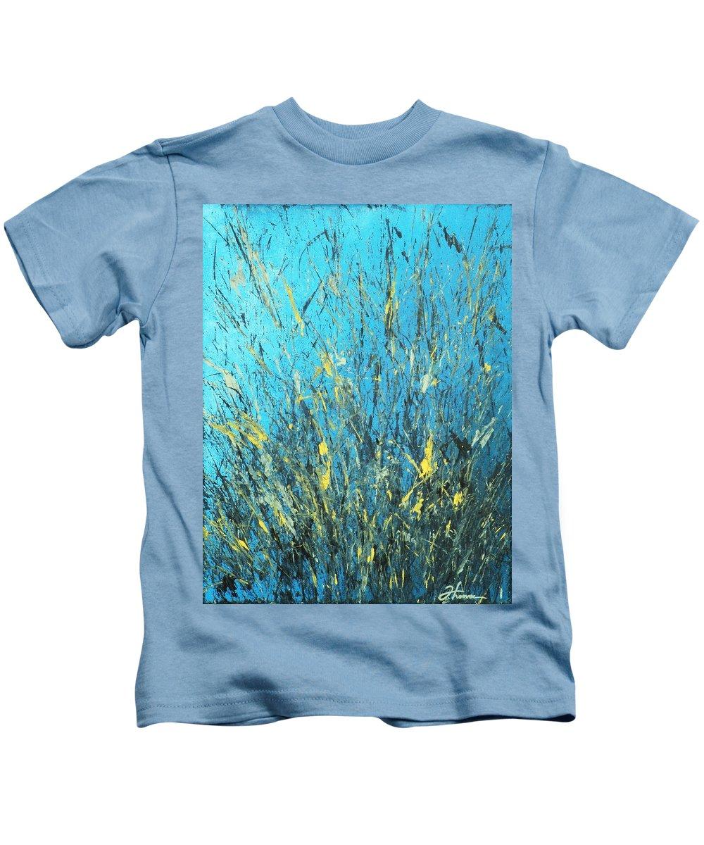 Splash Kids T-Shirt featuring the painting Awakening by Todd Hoover