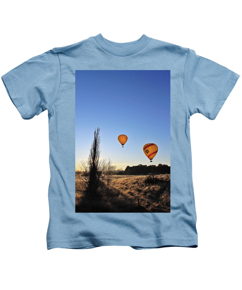 Hot Kids T-Shirt featuring the photograph Balloons At Sunrise by Anthony Croke