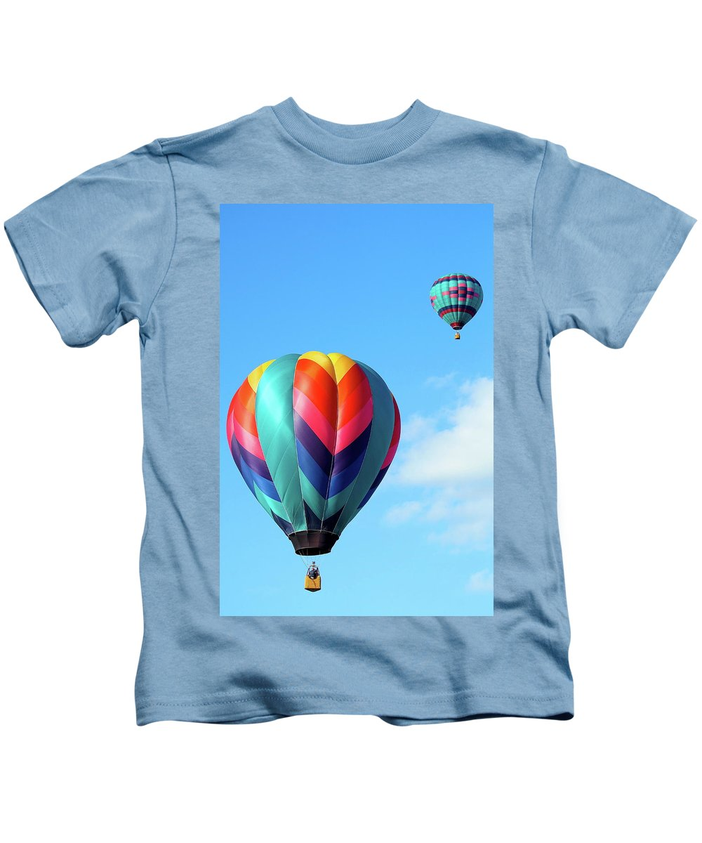 Ballons Kids T-Shirt featuring the photograph Balloons by Linda Cupps