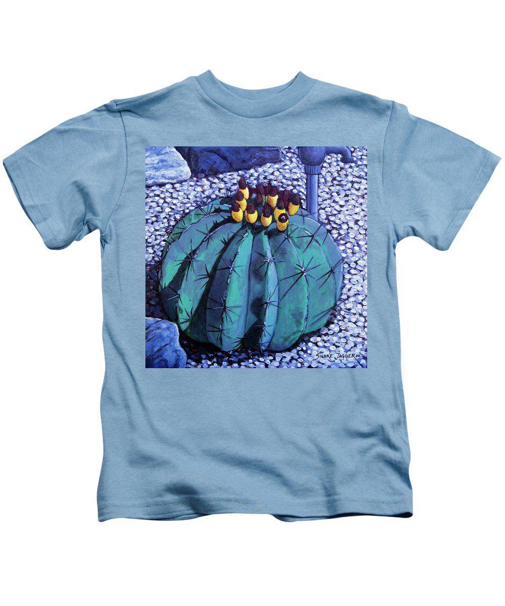Nature Kids T-Shirt featuring the painting Barrel Buds by Snake Jagger