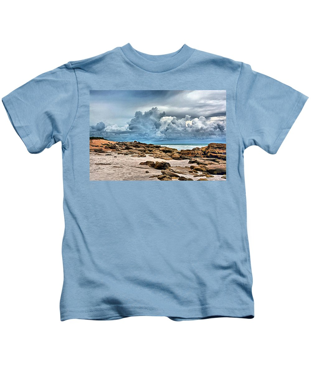Washington Oaks State Park Kids T-Shirt featuring the photograph Beach At Washington Oaks by Ben Prepelka