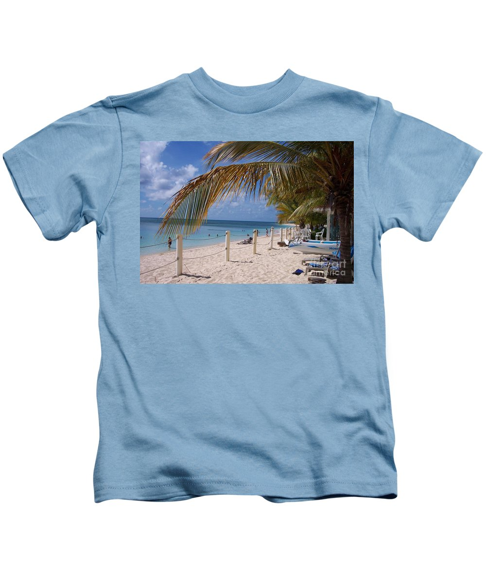 Beach Kids T-Shirt featuring the photograph Beach Grand Turk by Debbi Granruth