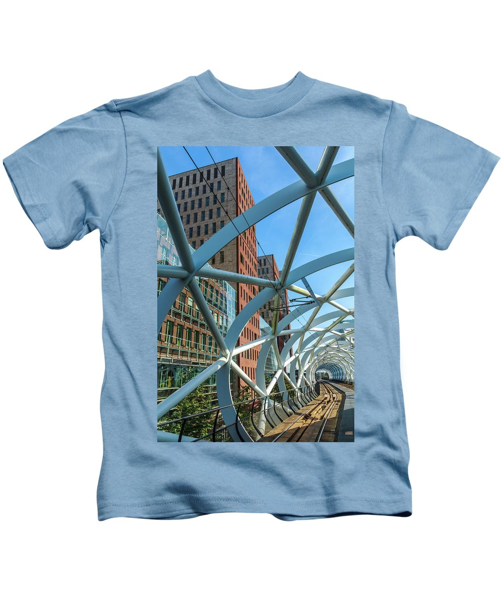 Modern Architecture Kids T-Shirt featuring the photograph Beatrix Kwartier by Andrew Balcombe