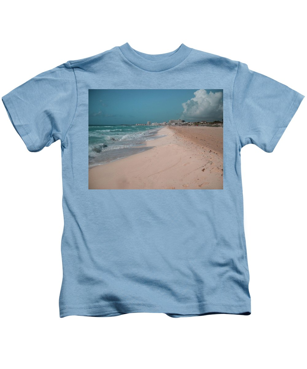 Sky Blue Digital Art Kids T-Shirts
