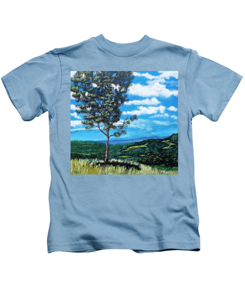 Landscape Kids T-Shirt featuring the painting Beautiful Day by Michael Dillon