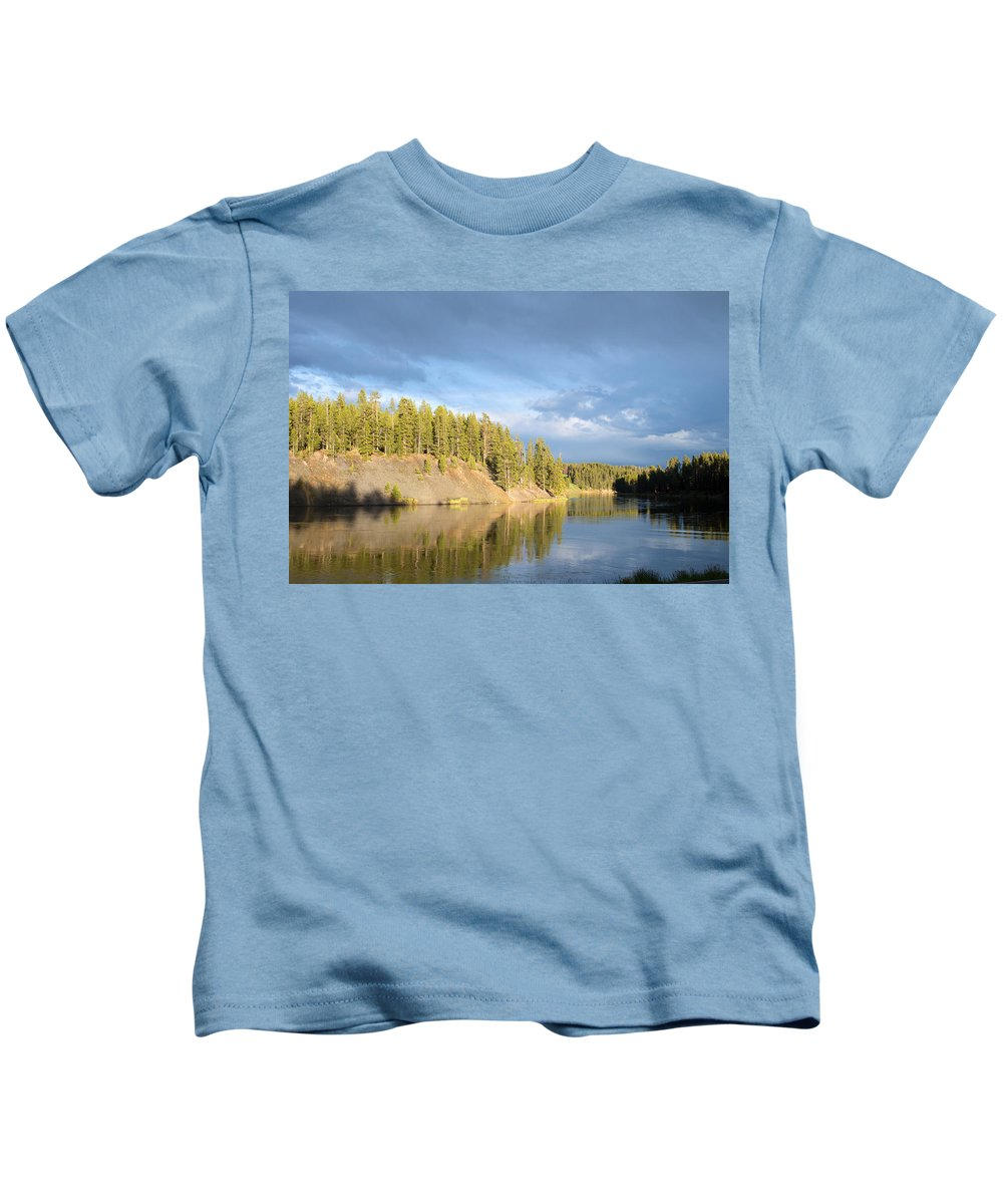 Trees Kids T-Shirt featuring the photograph Beautiful Reflection by Linda Kerkau