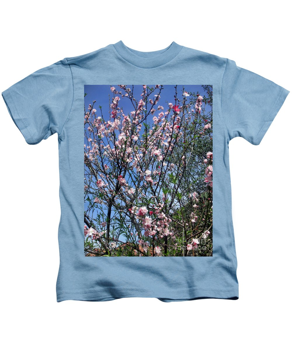 Beauty Kids T-Shirt featuring the photograph Beautiful Spring. Blooming Tree 2 by Sofia Metal Queen