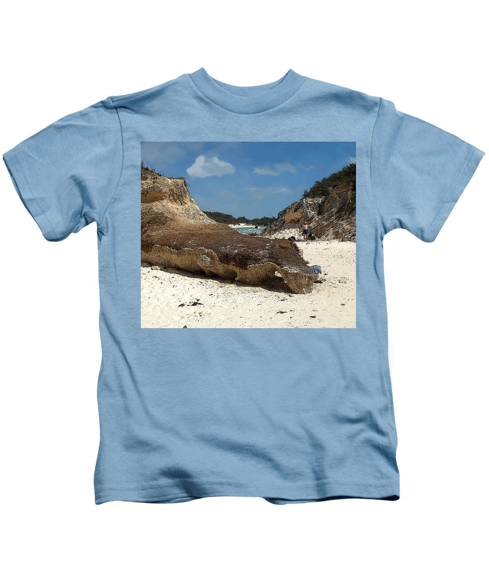 Bermuda Kids T-Shirt featuring the photograph Bermuda Path To The Sea by Ian MacDonald