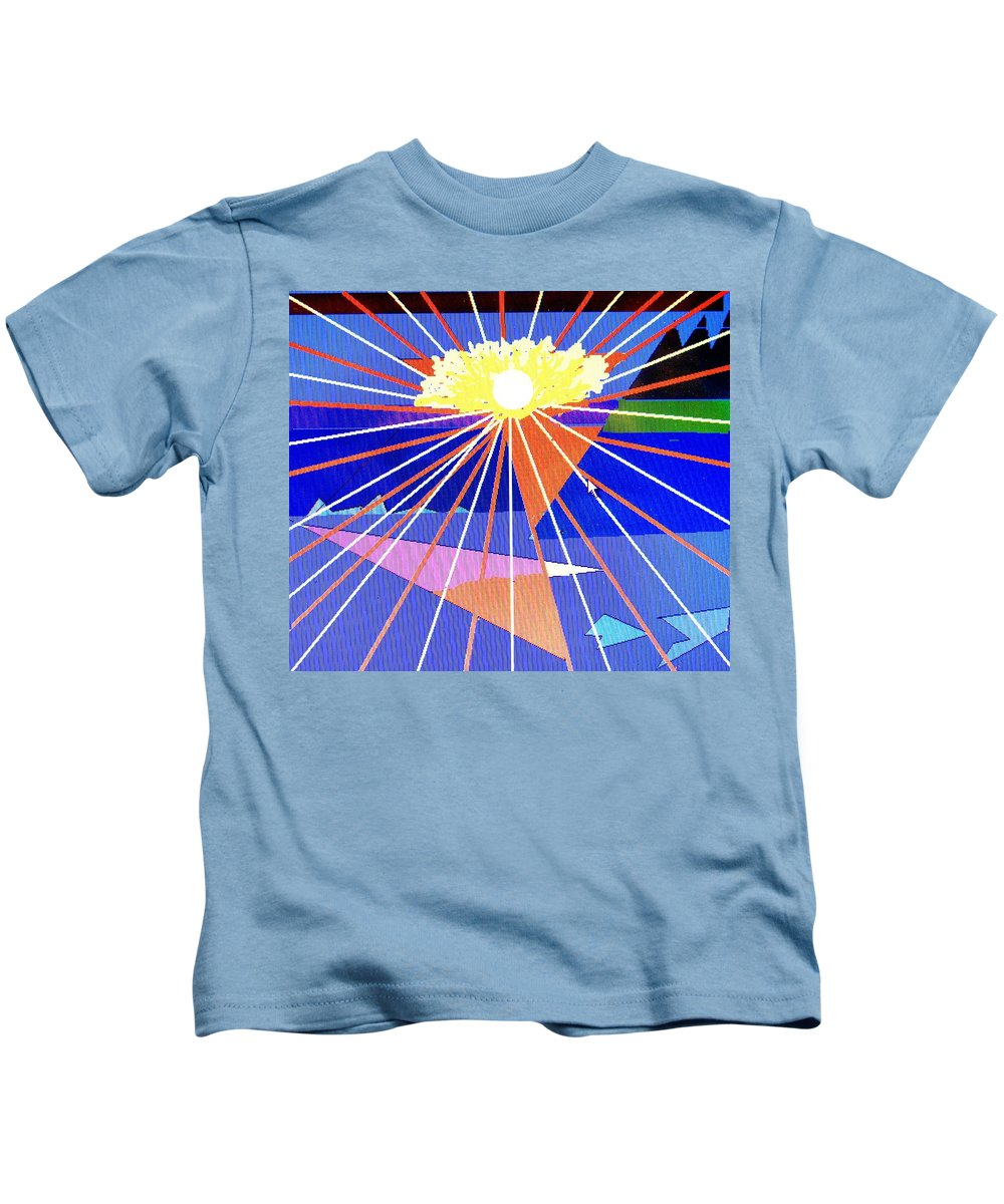 Sunset Kids T-Shirt featuring the digital art Bermuda Sunset by Ian MacDonald