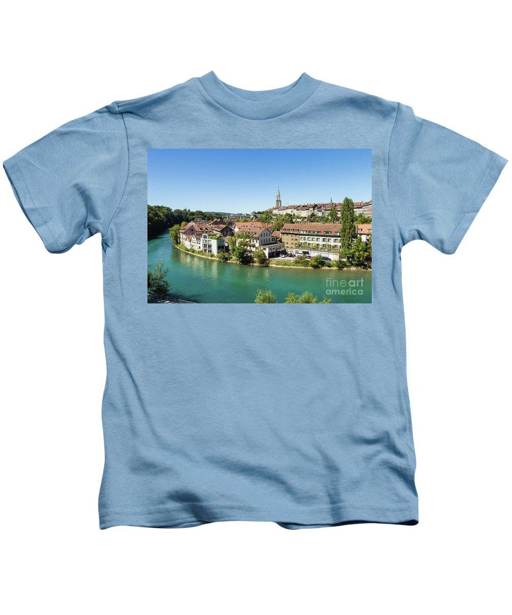 Aar Kids T-Shirt featuring the photograph Bern, Switzerland Capital City by Didier Marti
