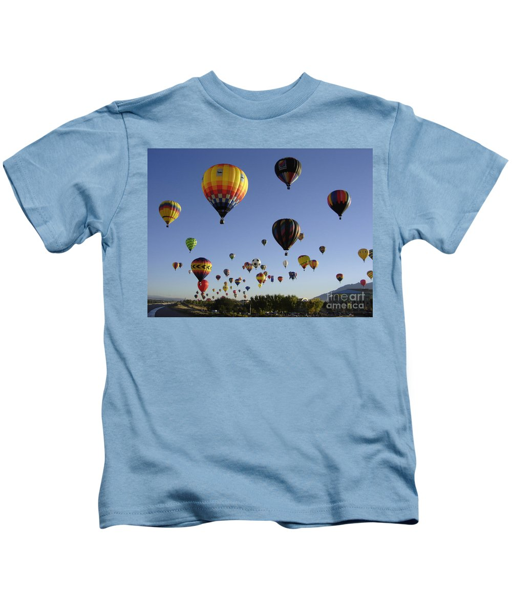 Flight Kids T-Shirt featuring the photograph Big Balloons by Mary Rogers
