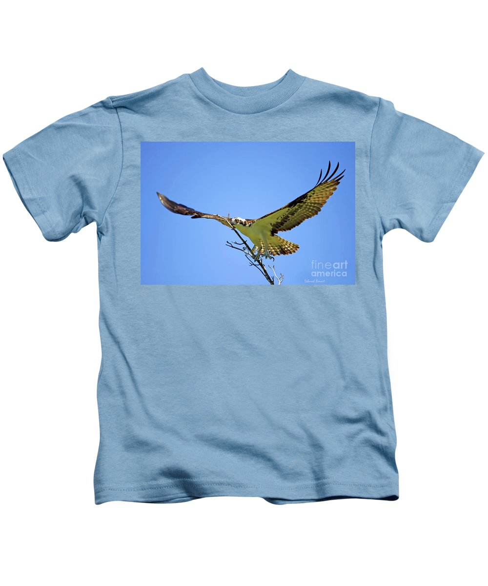Osprey Kids T-Shirt featuring the photograph Bigger Then Me by Deborah Benoit