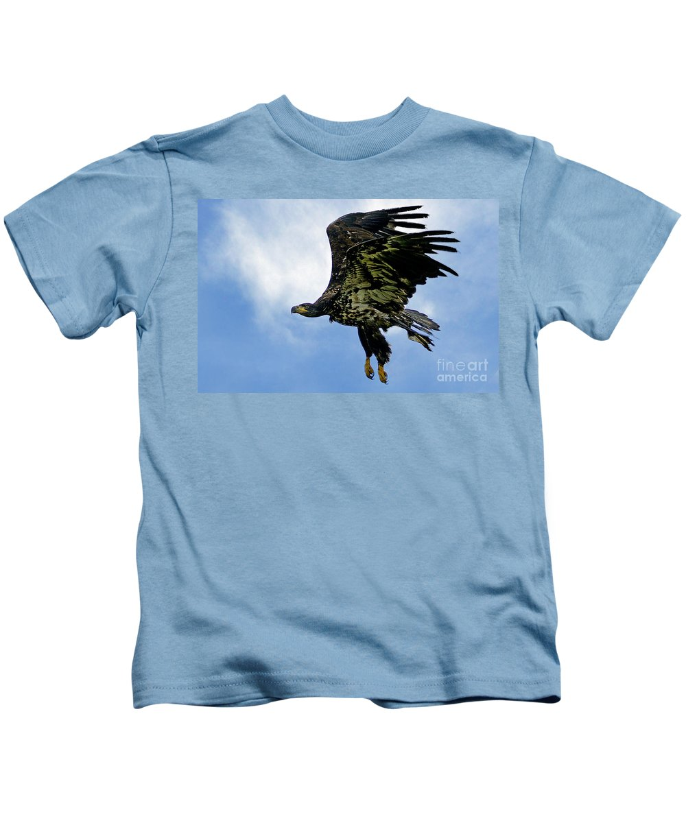 Birds Kids T-Shirt featuring the photograph Birds 54 by Ben Yassa