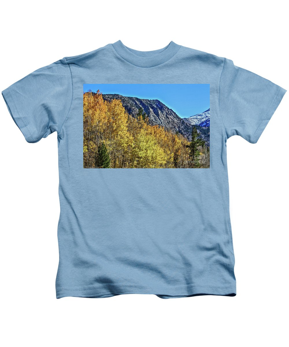 Bishop Kids T-Shirt featuring the photograph Bishop Creek Mountains by Tommy Anderson