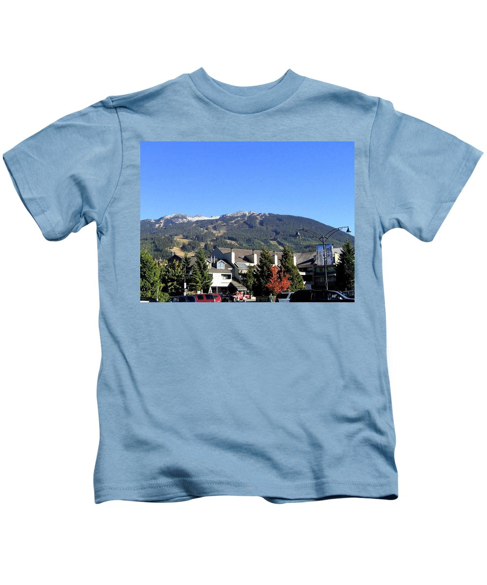 2010 Olympics Kids T-Shirt featuring the photograph Blackcomb Mountain by Will Borden
