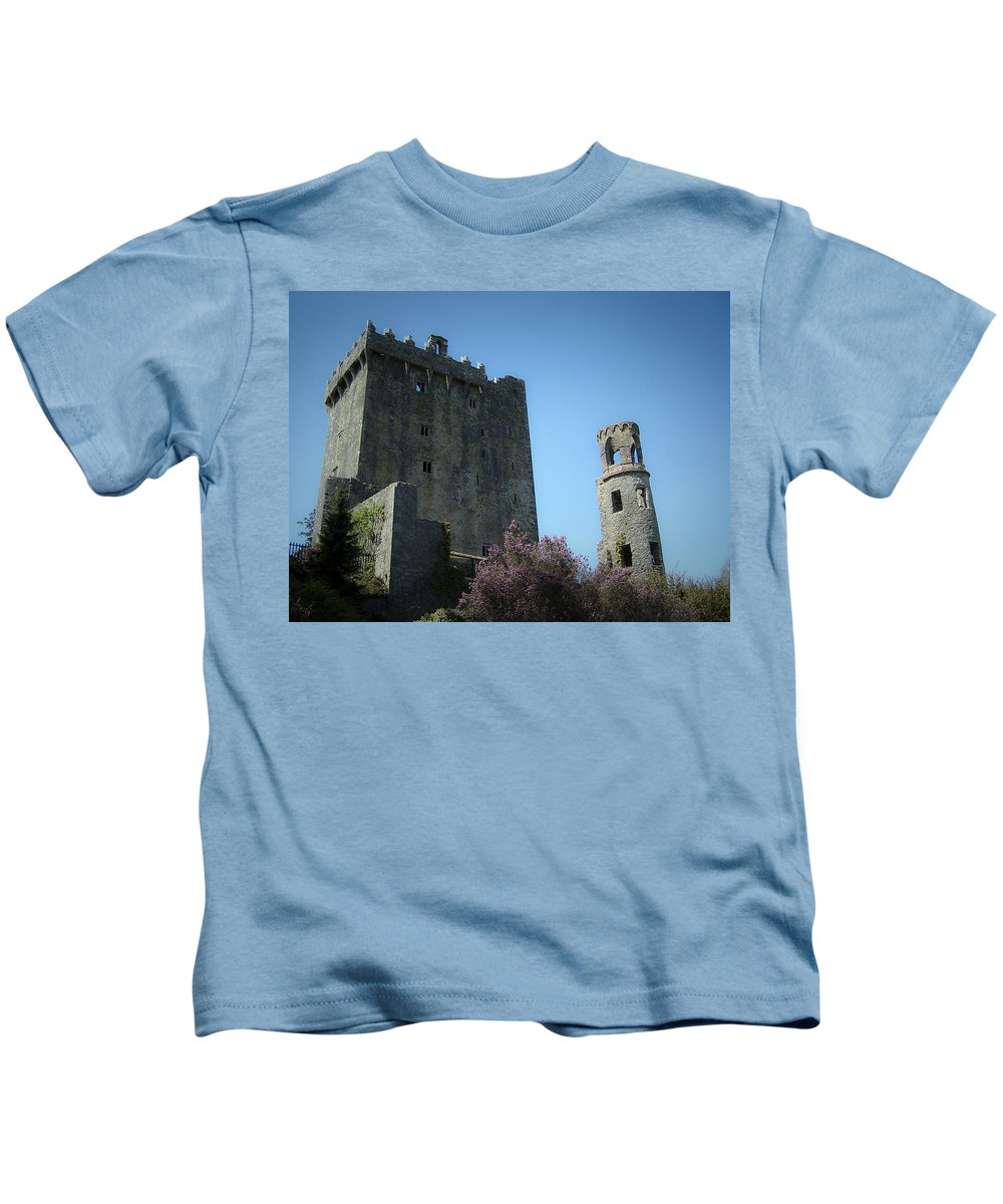 Irish Kids T-Shirt featuring the photograph Blarney Castle And Tower County Cork Ireland by Teresa Mucha