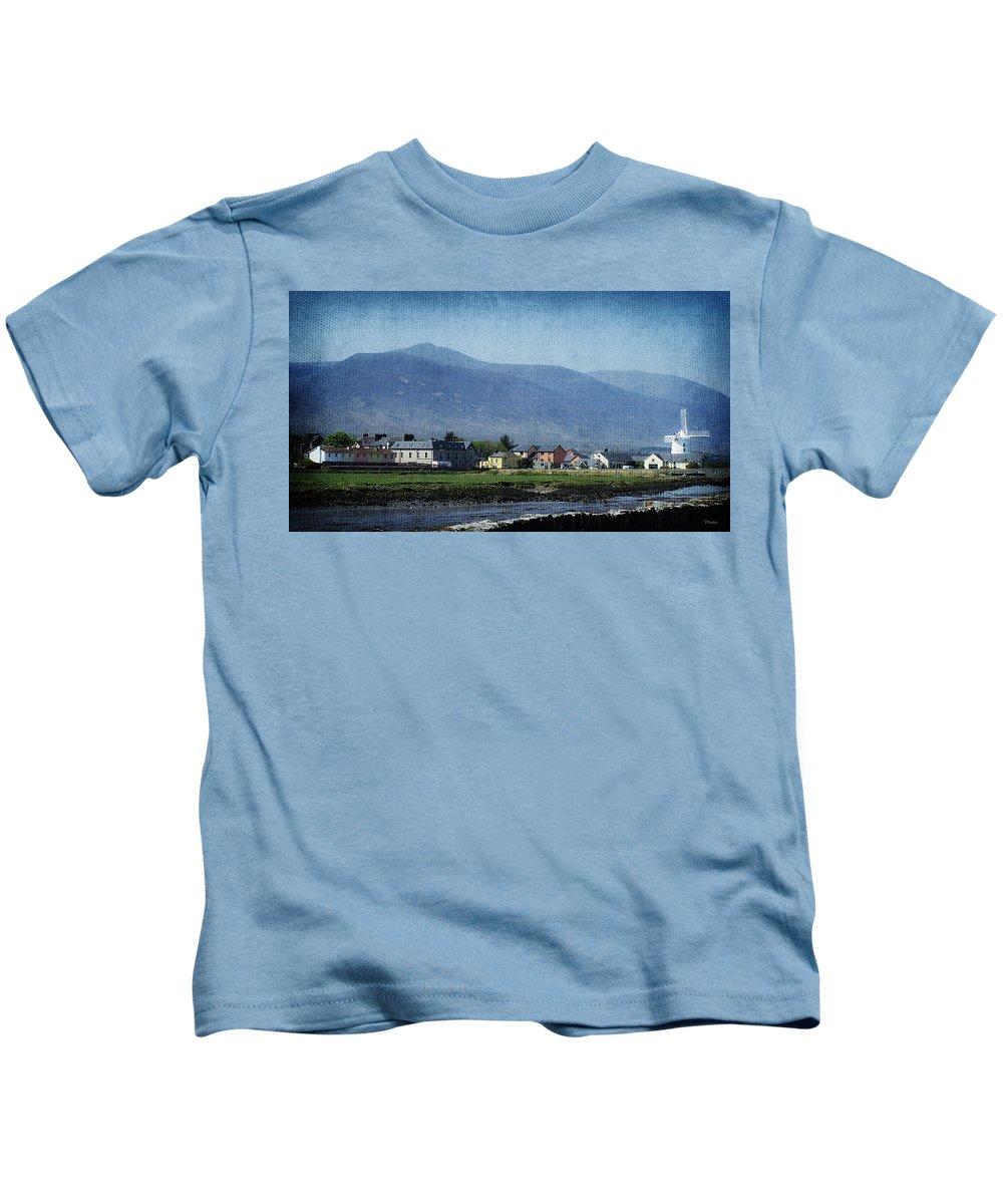 Irish Kids T-Shirt featuring the photograph Blennerville Windmill Ireland by Teresa Mucha