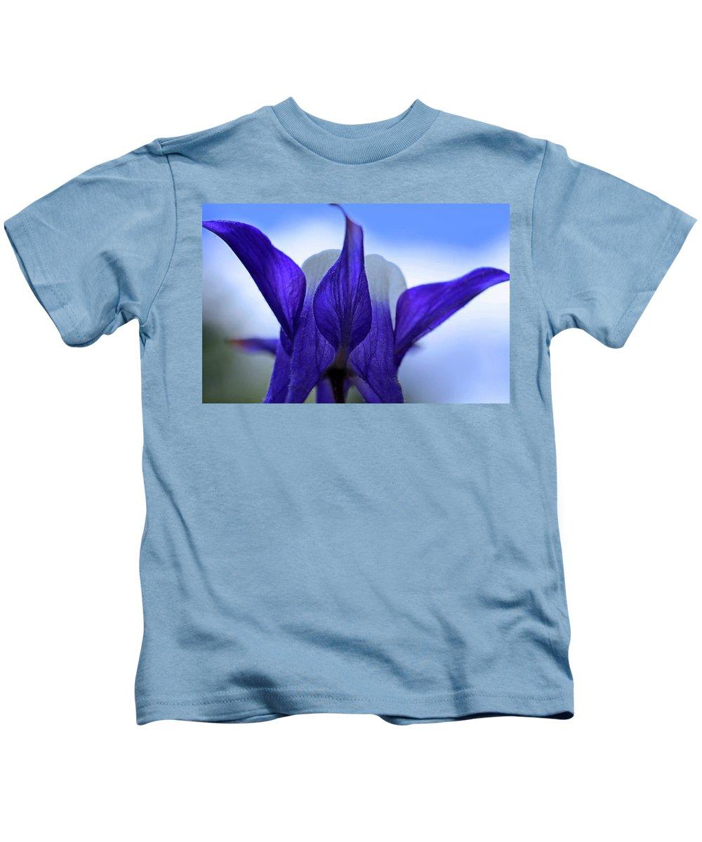 Columbine Kids T-Shirt featuring the photograph Blue Columbine I by Michiale Schneider