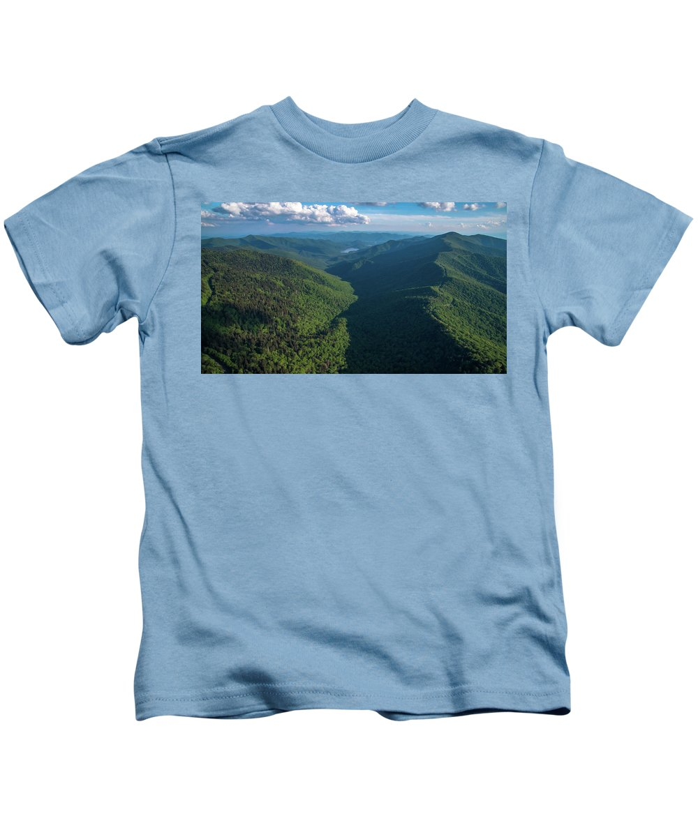 Blue Ridge Parkway Kids T-Shirt featuring the photograph Blue Ridge Parkway Rainbow Gap by Ryan Phillips