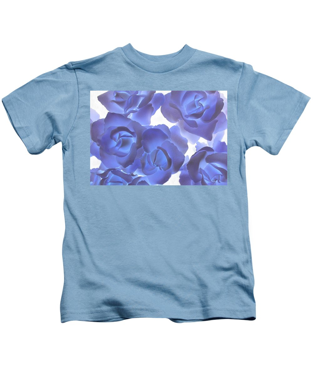 Blue Kids T-Shirt featuring the photograph Blue Roses by Tom Reynen