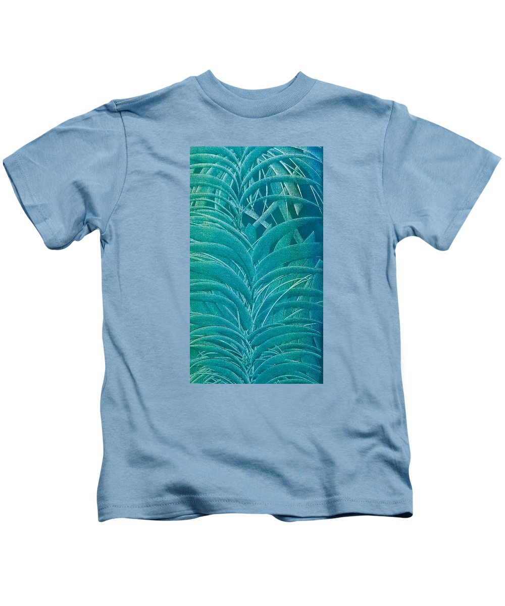 Sago Kids T-Shirt featuring the painting Blue Sago by Brad Mullins