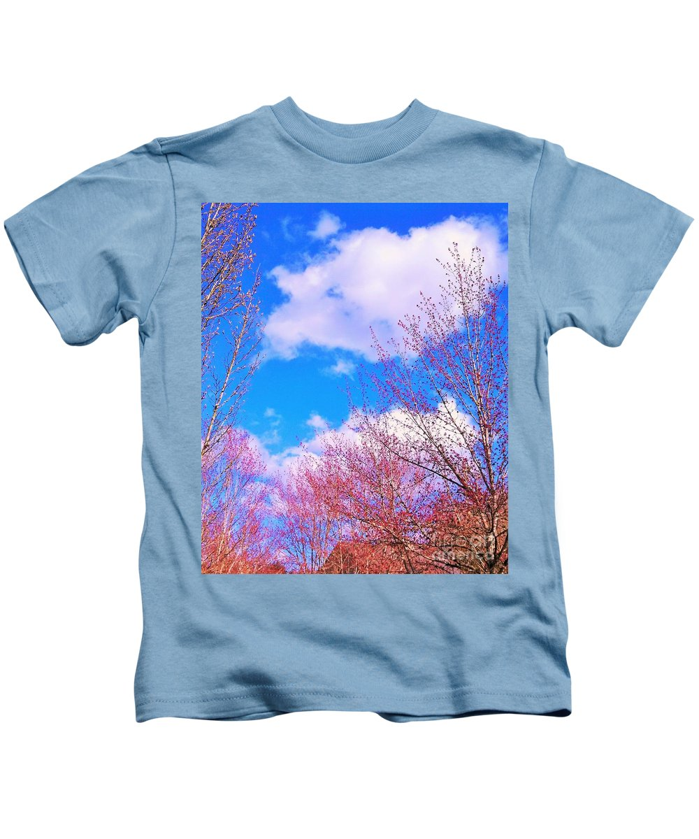 Blue Sky Kids T-Shirt featuring the photograph Blue Skies by Rosemary Meier