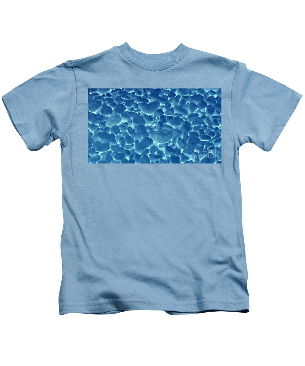 Stones Kids T-Shirt featuring the photograph Blue Stones by Samantha Joseph