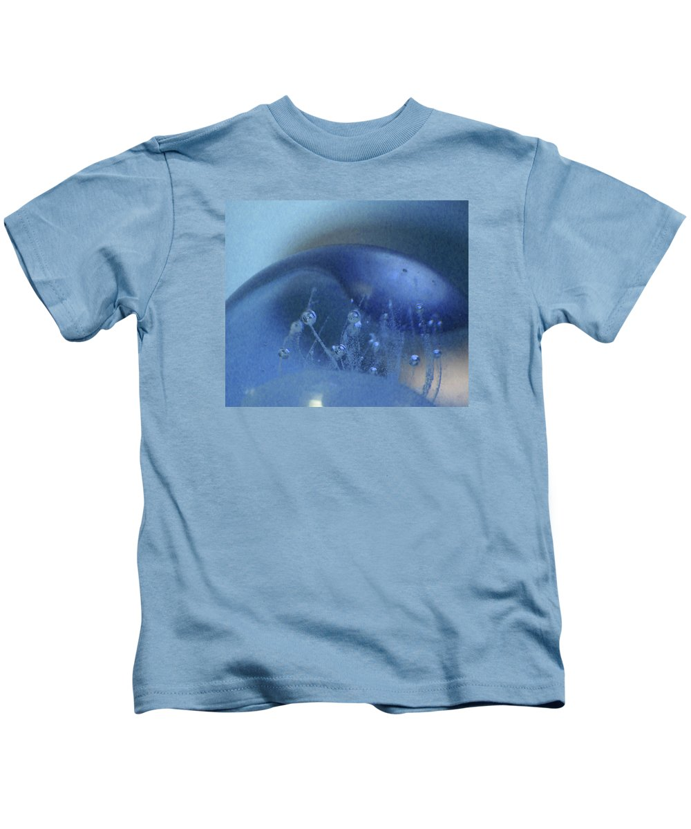 Abstract Kids T-Shirt featuring the photograph Blue Wave 1 by Cecilia Swatton