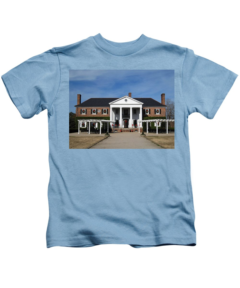 Photography Kids T-Shirt featuring the photograph Boone Hall Plantation Charleston Sc by Susanne Van Hulst