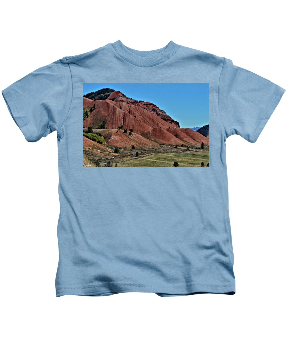 Bridger-teton National Forest Kids T-Shirt featuring the photograph Bridger-teton National Forest by G Berry