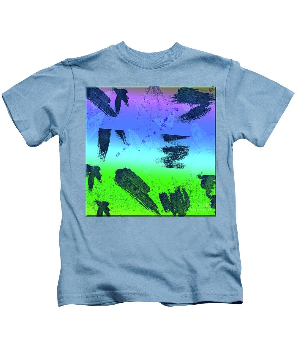 Butterflies Kids T-Shirt featuring the digital art butterflies in Colors by Ivan Angelovski