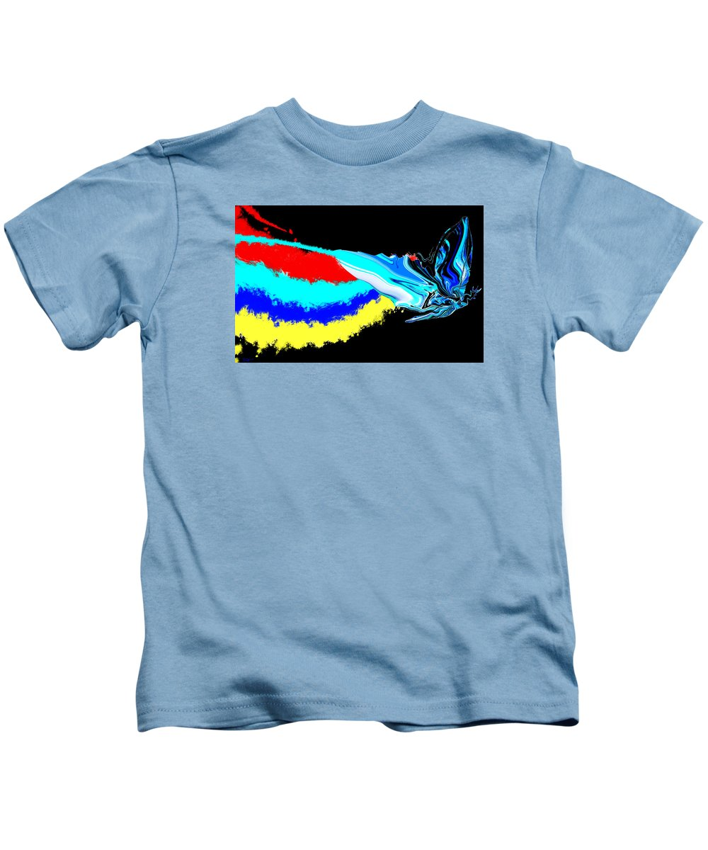 Butterfly Kids T-Shirt featuring the painting Butterfly Painting by Abstract Angel Artist Stephen K
