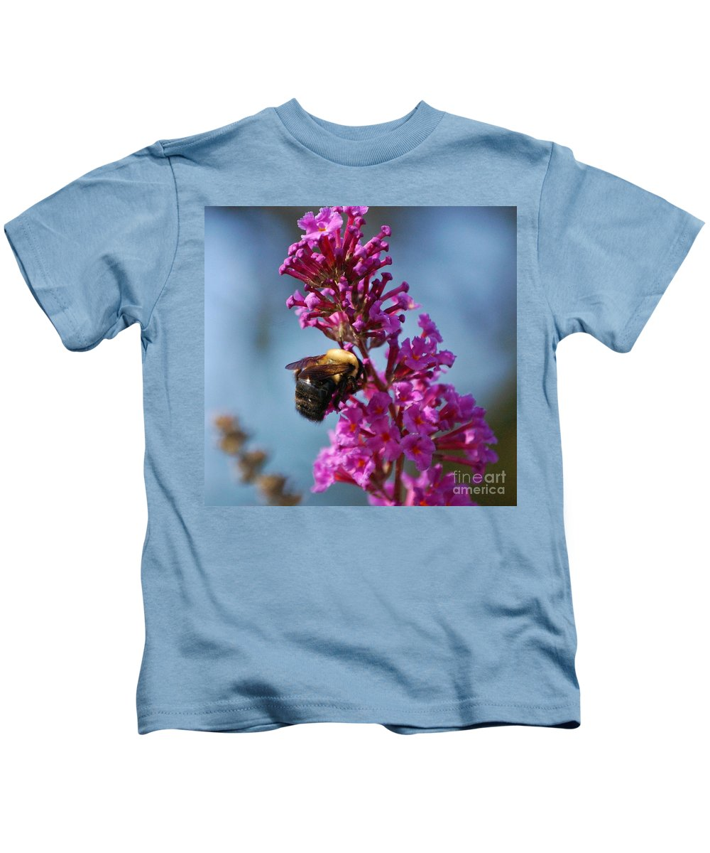 Bee Kids T-Shirt featuring the photograph Buzzed by Debbi Granruth
