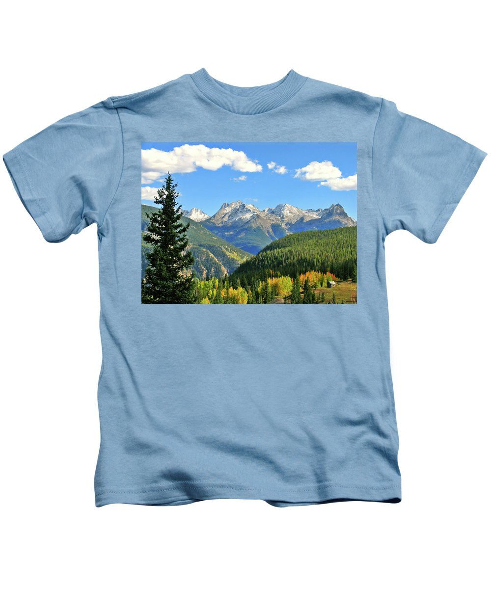 Cabin Kids T-Shirt featuring the photograph Cabin In The San Juans by Scott Mahon