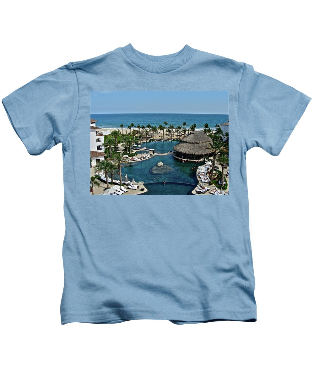 Sea Kids T-Shirt featuring the photograph Cabo Azul by Diana Hatcher